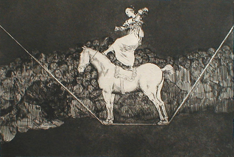 Une reine du Cirque (Precise Folly) by Francisco Goya