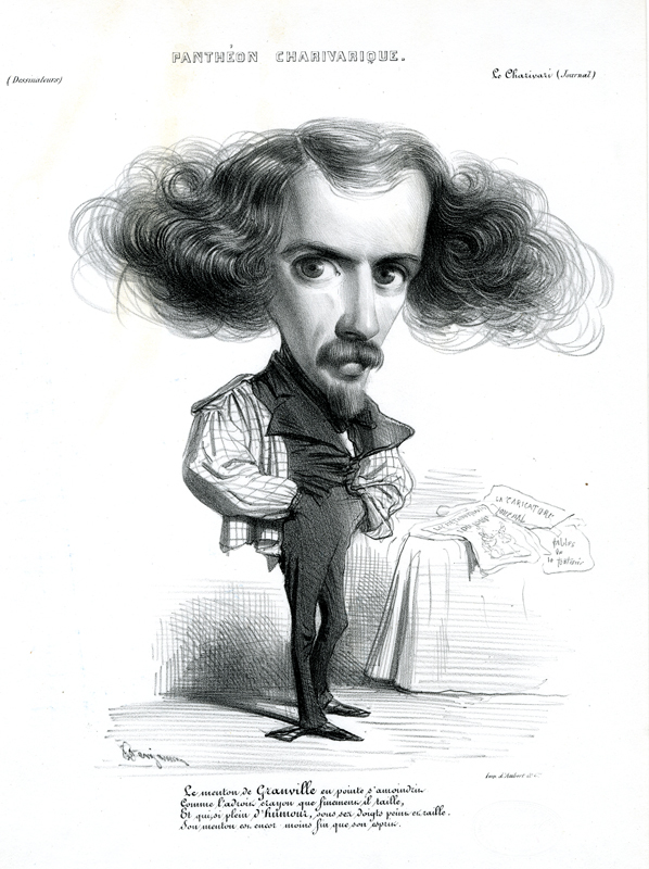 ..Granville.. (or Grandville; pseudonym of Jean-Ignace-Isidore Gérard); from: Pantheon Charivarique by Benjamin Roubaud