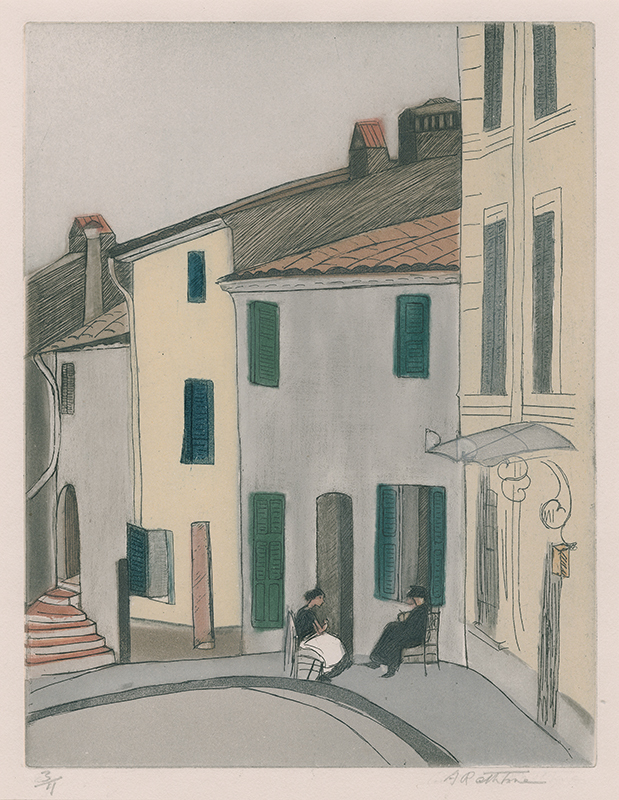 Cagnes, French Riviera by Augusta Payne Rathbone