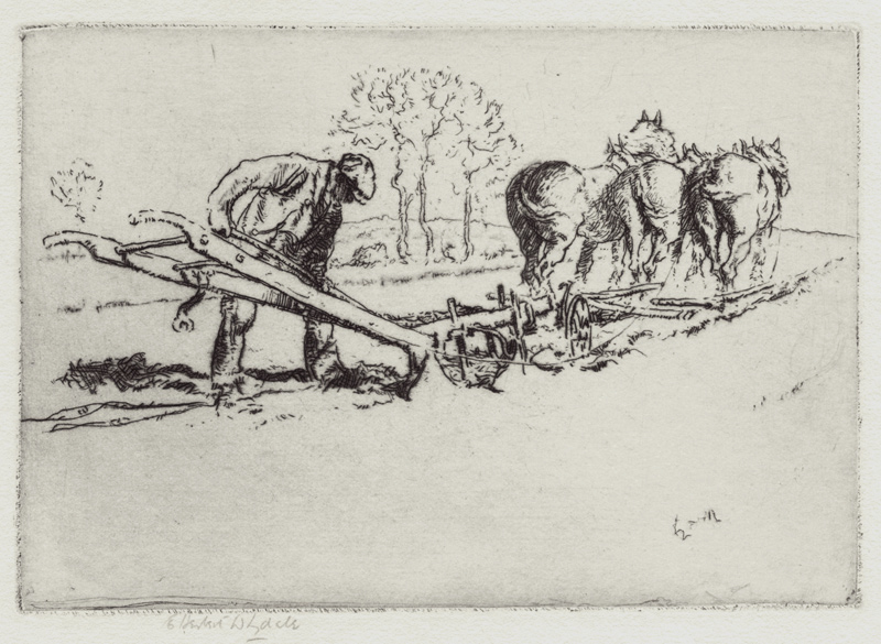 Cleaning the Plough by Ernest Herbert Whydale (1886-1952)