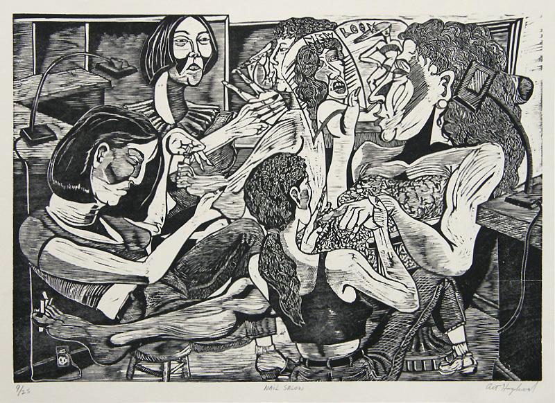 Nail Salon By Art Hazelwood Annex Galleries Fine Prints