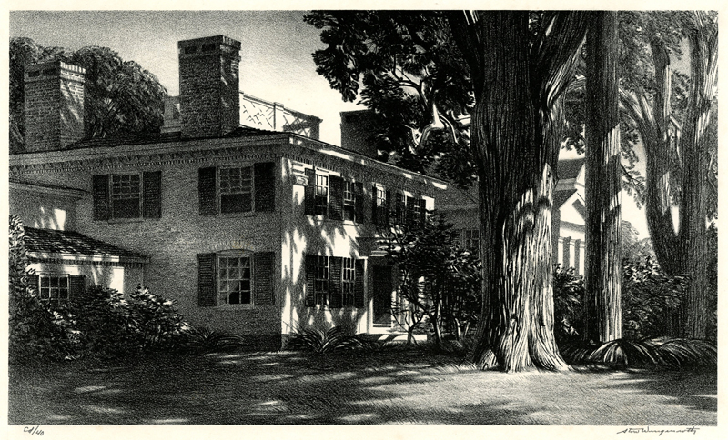 The Governors House (Wiscasset, Maine) by Stow Wengenroth