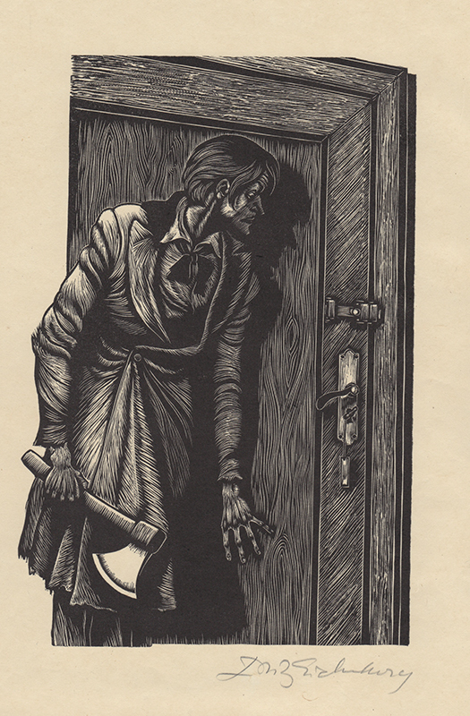 "Before the Murder"" (Crime and Punishment) by Fritz Eichenberg ..."