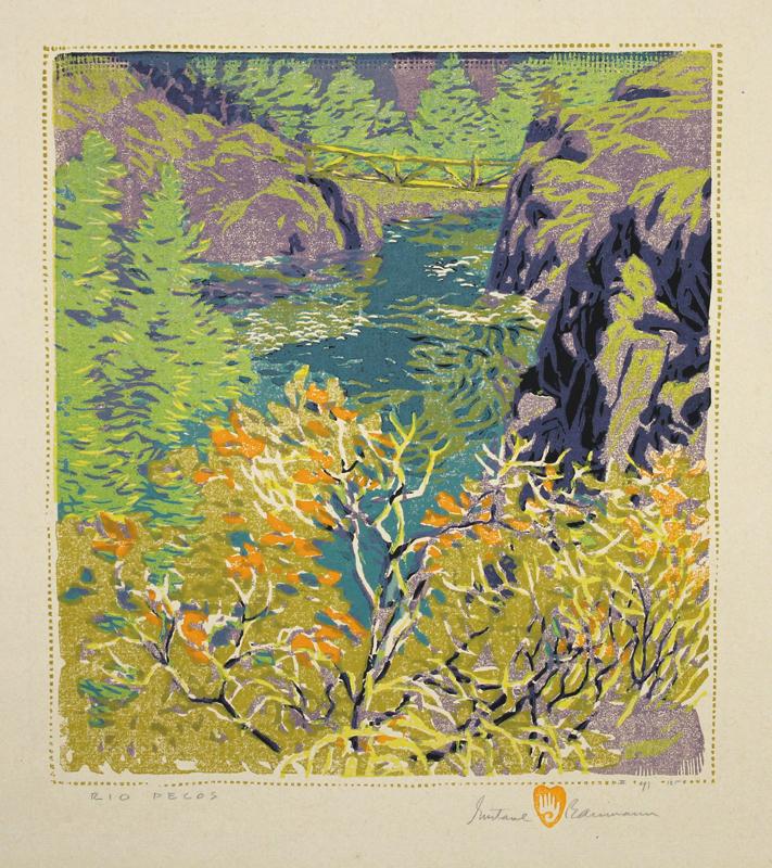 Rio Pecos by Gustave Baumann