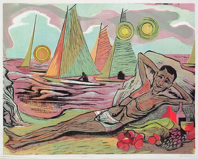 Yachtsman By Joseph Leboit Annex Galleries Fine Prints